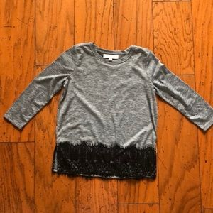 XSP Loft 3/4 T-shirt with lace, perfect condition